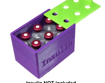 Insulin Caddy With Lid - 6 vial