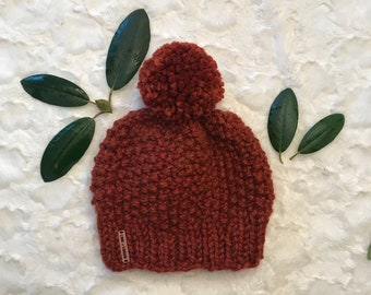 Lime and Linden    The Hemlock Hat with Pom Pom    Custom Hand Knit Beanie     Infant-Baby-Child-Kid-Adult fab95f736084