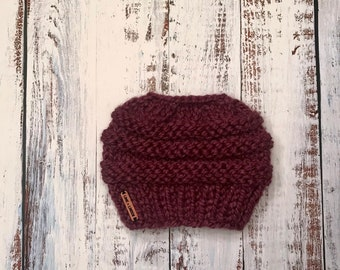 b8c42895103 Lime + Linden    Ponytail Hat    Messy Bun Hat   Custom Hand Knit Beanie     Baby - Child - Kid - Girls - Adult