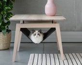 KIKKO, Luxury coffee table,  cat bed,   Scandinavian design, designer bed, cat hammock, small cat bed, coffee table, living room, cat gift