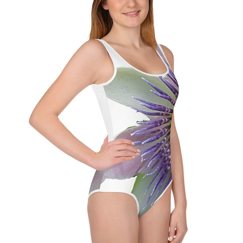 Passion Flower All-Over Print Youth Swimsuit