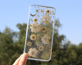 IPhone 12 case,dry flower,IPhone 11 case,pressed flower iphone XR case,iPhone XS case clear,iPhone X case,Samsung Galaxy S10 case,Huawei