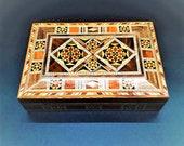 Handmade Inlaid Large Rectangular Jewellery Box 20 CM. Limited Edition.