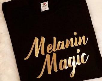 40b796c5ef82 Melanin Magic Women T-shirt. CrownedTrinity. 3.5 out of ...