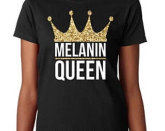 0189f7fb7f30 Melanin Queen Women T-shirt. CrownedTrinity. 3.5 out of ...