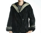 Size XL Great Swakara Lamb Fur Women Jacket Coat 87 Very CUTE Coat