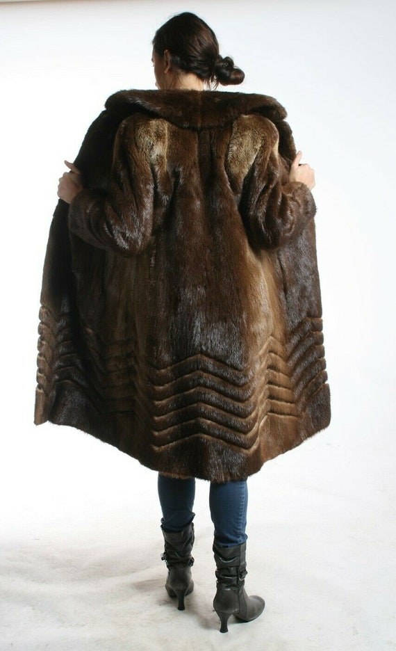 Size M Great River Otter Fur Women Coat [97]  Medi