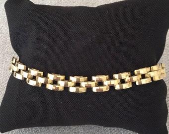 Lovely Vintage 9ct Gold Bracelet with Square Links
