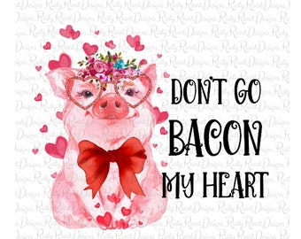Printed Sublimation Transfer Valentine Pig Marquee Kiss Me design