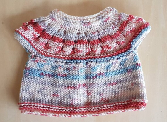 Short Sleeve Hand Knitted Swing Style Cardigan