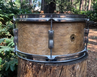 Marching Snare Drum Antique Reproduction With Drum Sticks Distressed-Looking 7-1//2 Civil-Revolutionary War Era Wooden Authentic