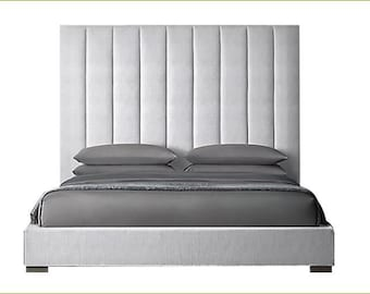 e4c9edfa511aac Arista Custom Platform Bed inspired by RH Modena Panel Vertical Chanel