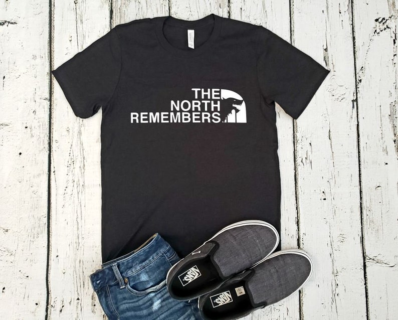 32fce404027 The North Remembers in The North Face Style Cotton Blend | Etsy