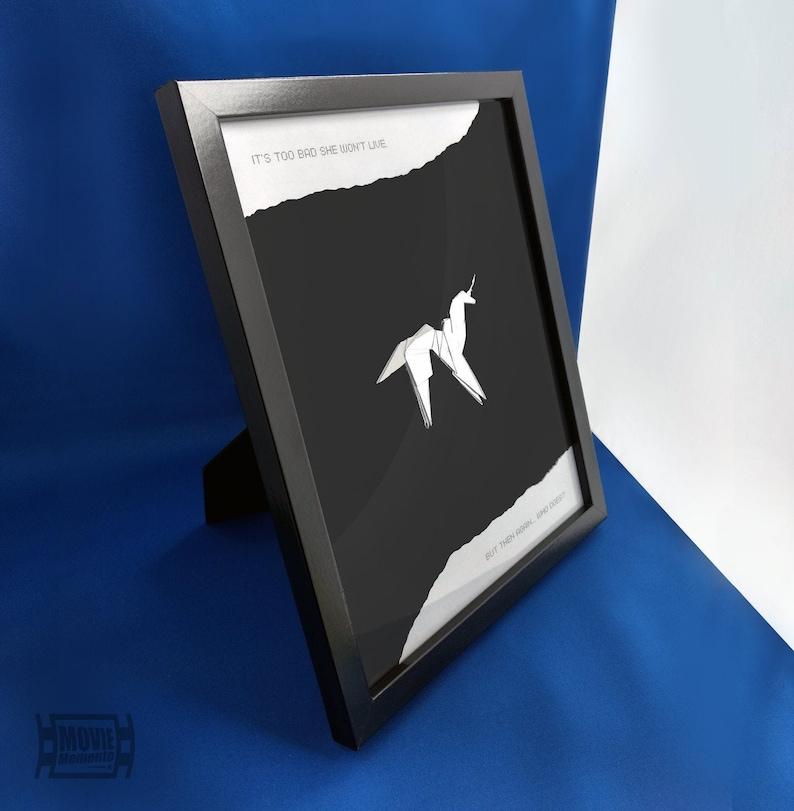 Origami Unicorn Framed  Blade Runner inspired image 0
