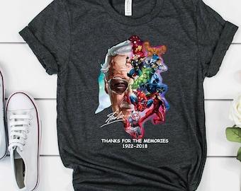 2f2bee4fc Marvel Avengers Endgame Shirt Stan Lee Shirt TShirt Thanks Memories Marvel  Avengers Tee Superheroes Gift Idea for Men Women