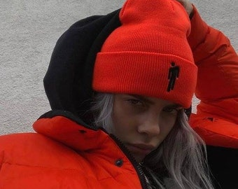 7b4a6147 Cute Billie Eilish Cuffed Beanie For Women love Billie Eilish