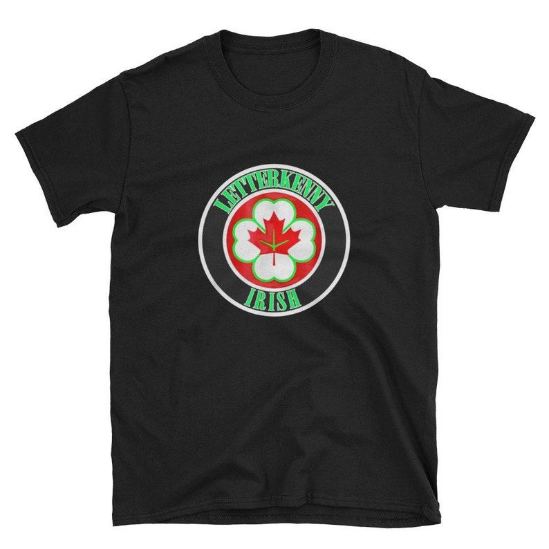 Letterkenny Irish Shoresy Logo T Shirt Men/'s Cotton Black Navy Tee Shirts Gifts