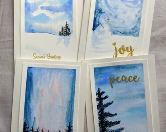 Hand-painted Holiday Cards made by artists with disabilities Bolivian Winter