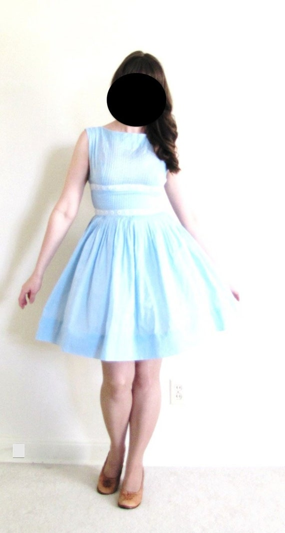 1950s Dress / 50s Dress / Light Blue 50s Dress - image 2