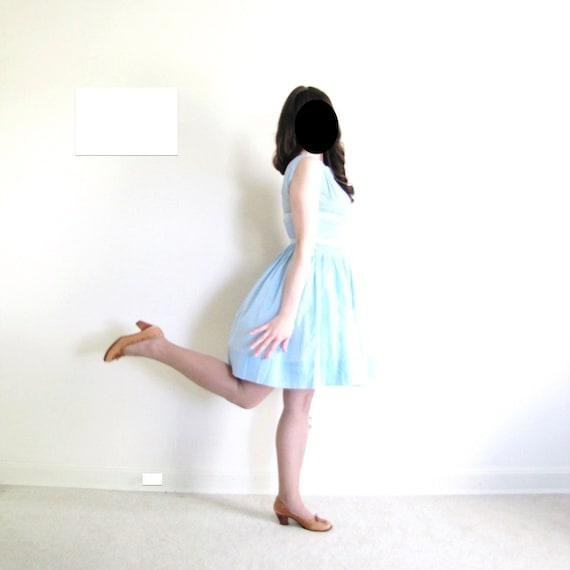 1950s Dress / 50s Dress / Light Blue 50s Dress - image 4