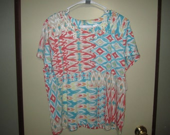 3270b2c926 Alfred Dunner Multicolor Beaded Top PL, NWT