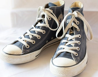 3cb9ee5dadfb 80s Vintage Blue Converse Sneakers for Women   UK6   EU39   US8
