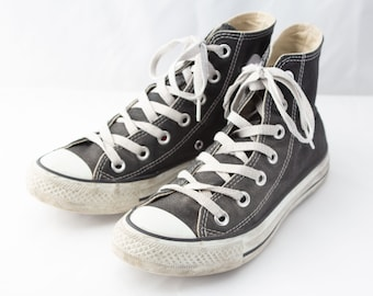 80191c429c523a 80s Vintage Black Dark Grey Converse Sneakers for Women   UK3.5   EU36.5    US5.5