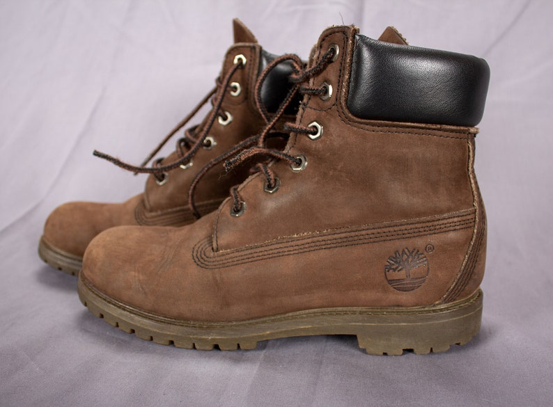 2459f03ef01 Timberland Vintage Brown Leather Man Made Work Boots Waterproof Boots /  Size 38.5 / US 7.5 / UK 5.5