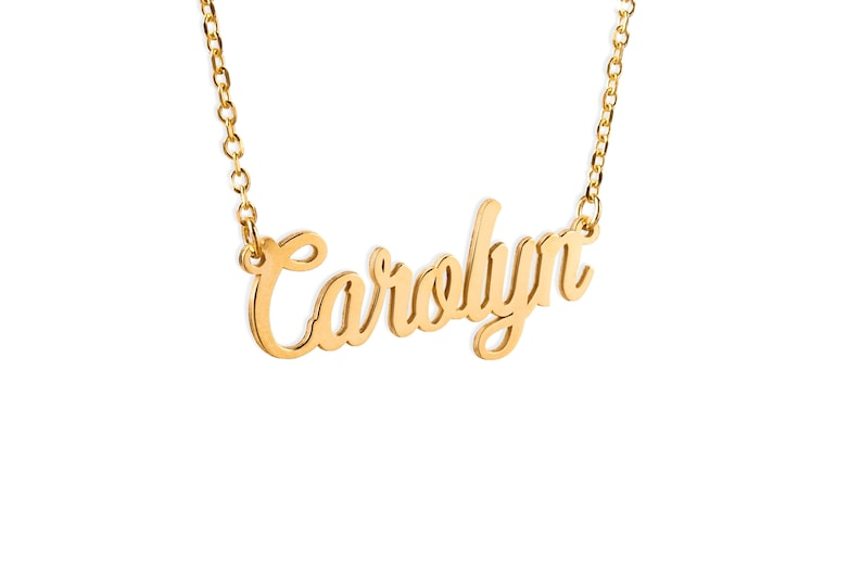 Personalized Name Necklace Gold Dainty Name Necklace Bridesmaid gift Gift for Mom Personalized Gifts Christmas Gift Custom Name Jewelry