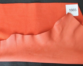 Leather lamb leather thickness 0.8 mm leather cuts nappa leather pieces in orange