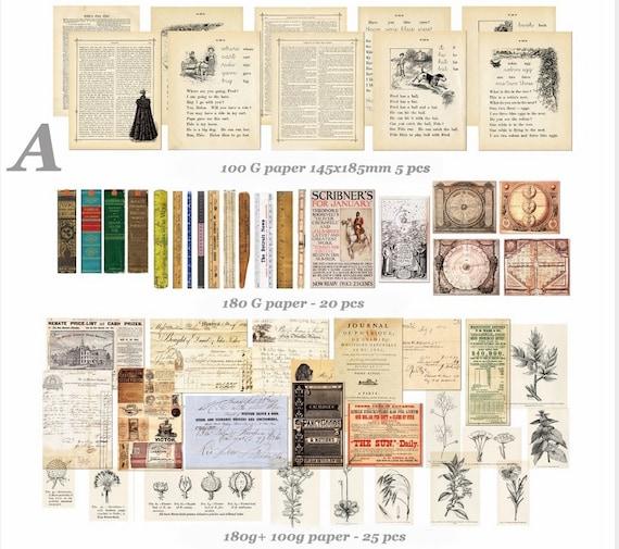 Junk Journaling Ephemera Pack journal kit 70 pieces Vintage paper craft supplies