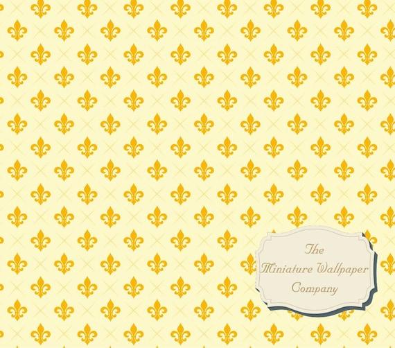 Fleur De Lis Luxury Wallpaper 12th Scale Miniature Wallpaper 24th Scale A3 Sheet Size 16th 112th 116th 124th 148th