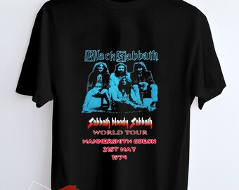 528e8390 Black Sabbath, Blody Sabbath World Tour T Shirt Hypebeast Sreet Wear for  Adult Unisex