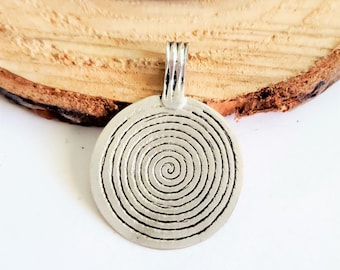 Brass Berber Spiral Pendant 90x60mm Pendant for Jewelry Brass Pendant North African Finding Handmade Pendant Ethnic Pendant for Necklace