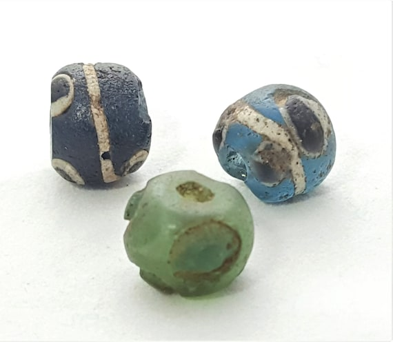 Migration Times bead A.D. Glass Eye Bead Antique bead V-VII c Ancient Roman glass bead Ancient glass paste bead