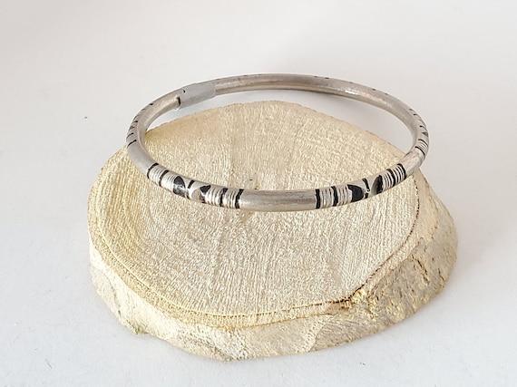 Old Moroccan Amazigh Tribal Silver Bracelet Old ethnic Berber Anti Atlas bangle