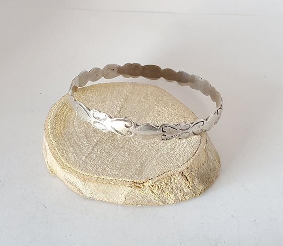 Antique  Moroccan old Bangle silver Bracelet ,ethn