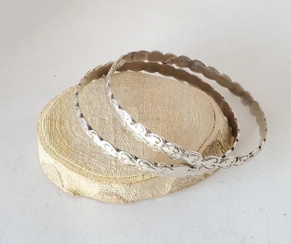 Antique 2 Moroccan old Bangle silver Bracelet ,eth