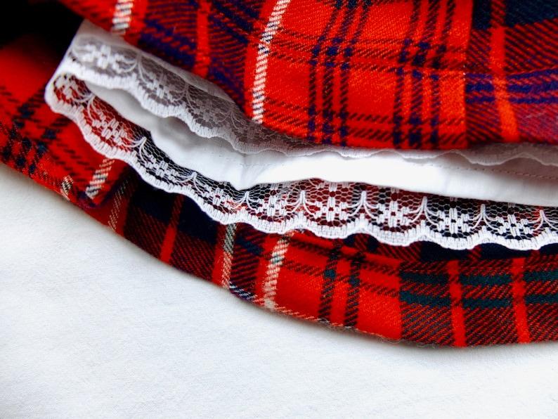 CHRISTMAS dress,Red tartan,baby Christmas dress,robe Noel b\u00e9b\u00e9,baby blouse,peter pan collar,baby dress,baby tartan dress,christmas outfits