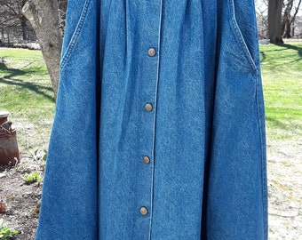 987f31882f2c Vintage 1970's-1980's Carlyle Faded Blue Denim Full Flared Swing Skirt Sz.  10 ~ Made in U.S.A. ~ Square Dance Rockabilly Anyone?