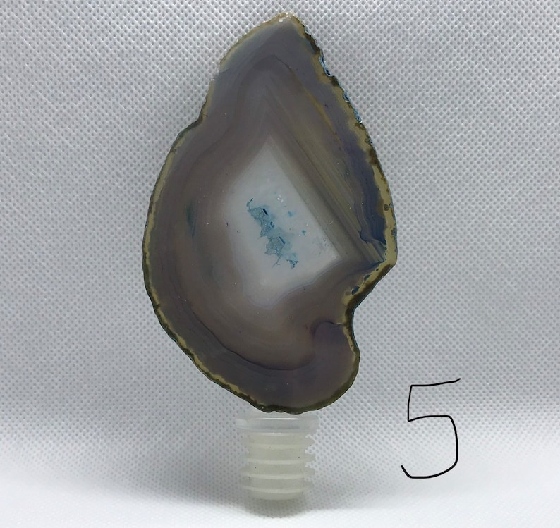 Blue agate bottle stoppers styles #1-#6