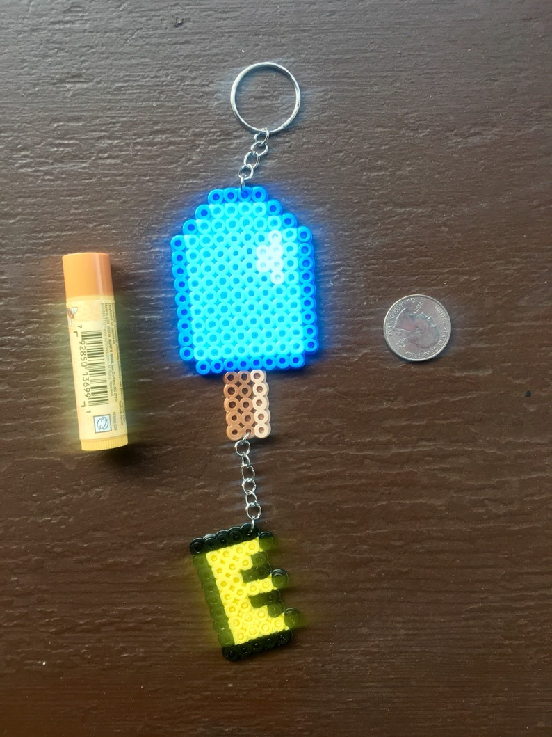 Kingdom Hearts Sea Salt Ice Cream Perler Bead Keychain