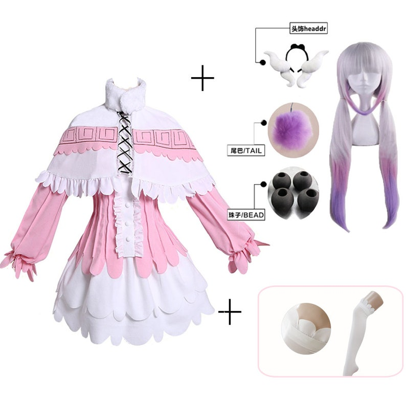 Miss Kobayashi/'s Dragon Maid Cosplay Costume With Headband Stockings Kamui Kanna