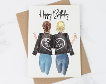 Best Friend Birthday Day Card Happy Friends For Her