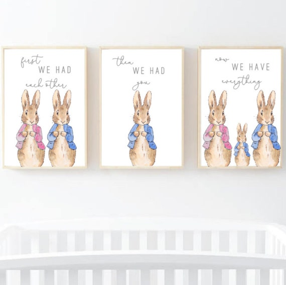 MUMMY MUM BUNNY BABY GIRL BOY RABBIT PERSONALISED PRINT A5 A4 A3 GIFT PRESENT