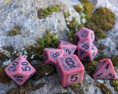 Blood DnD Dice Set, Polyhedral dice, D D dice, Dungeons and Dragons, Table Top Role Playing Dice. Ancient Red Dice. Matte Red Dice