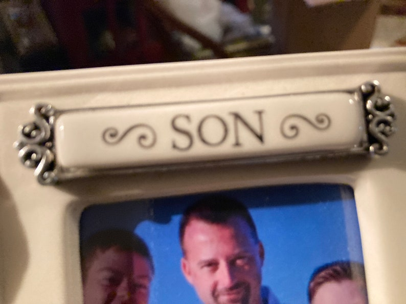 Son,A son grows and becomes the friend you always hoped he would be,picture frame,weddings,2.5x3.5\u201d photo,frame is 5.5\u201dH,4\u201dW