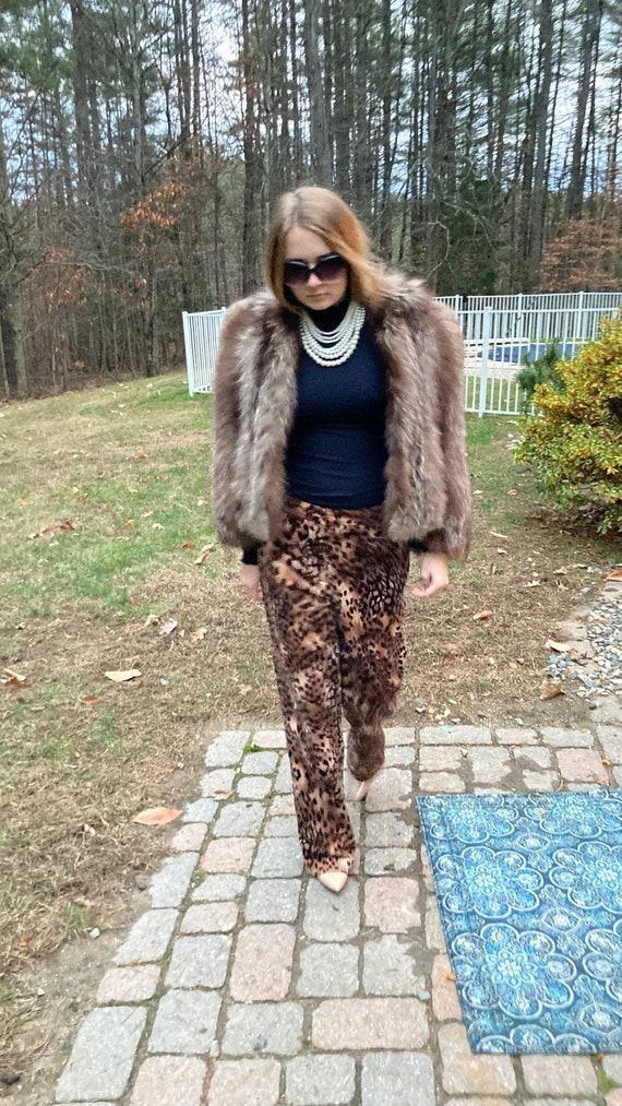 Vintage Fox Fur Jacket Womens Small