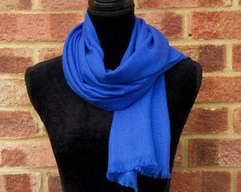 Royal blue scarf | Etsy