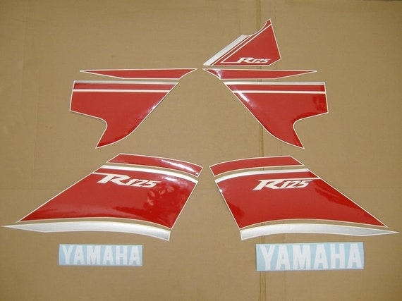 Yamaha Yzf R125 2008 Decals Stickers Set Kit Replacement Replica Restoration Graphics Reproduction Pegatinas Aufkleber Emblems Autocollants
